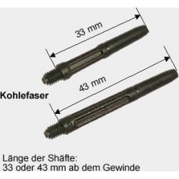 Shaft Kohlefaser 43mm