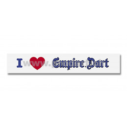 Aufkleber »I love Empire Dart«